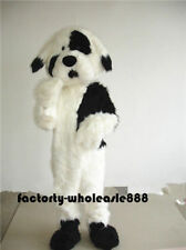 2018 Cute Long Fur Dog Mascot Costume Dogs Cosplay Party Game Fancy Dress Adults