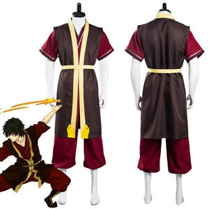 Avatar: The Last Airbender Zuko Cosplay Costume Pants Vest Halloween Outfit