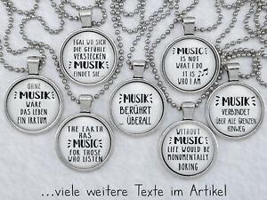 Spruchkette by Perletta 20 Texte rund um die Musik Musiknoten Kette mit Anhänger