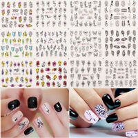 Water Decals Flower Leaves Slider Transfer Nail Sticker Nail Art Tattoo Wraps