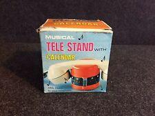Rare Vintage M.I.M Lador Tele Stand Music Box Telephone Holder Excellent