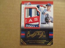 BRICE TURANG 2017 Stars & Stripes USA Baseball Black Gold LOGO PATCH Auto #1/5