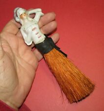 Antique Half Doll Vanity Brush French Madame
