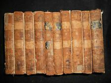 10 Vol Set Ancient History of the Egyptians, Greeks, etc, 1800, Rollin, Bindings