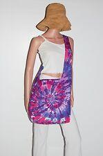 TIE DYE Shoulder Bag Pink/Purple Spiral Boho Festival Bag Grateful Dead tye die