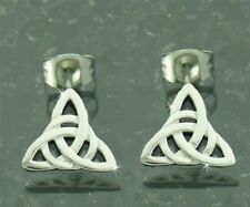 316L Stainless Steel Modern Trinity Knot Earrings