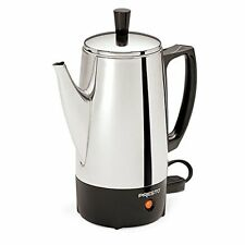 Coffee Percolator 6 Cup Maker Pot Vintage Electric Stainless Steel Cafe Camping
