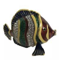 Rucinni Tropical Fish Trinket Box encrusted with Swarovski crystals