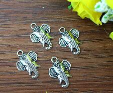 10pcs Elephant Tibetan Silver Bead charms Pendants DIY jewelry 22x15mm