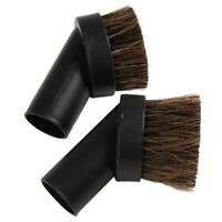Dusting Brush Dust Tool Attachment for Vacuum Cleaner Round Horse Hair Tool LI