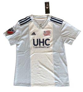 Adidas Women's New England Revolution MLS Soccer Jersey White Blue Size S, M, L