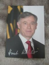 More details for horst köhler hand signed photograph president of germany 2004 - 2010