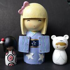 Momiji Polo Funny Girl+ Gleneagles Studio Japanese Hina Doll Coin Bank Geisha