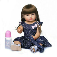 NPK 55CM Bebe Doll Reborn Toddler Girl Dolls Full Body Silicone Vinyl Baby Gift