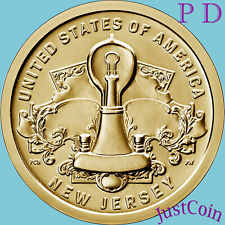 2019 P&D SET AMERICAN INNOVATION NEW JERSEY TWO UNCIRCULATED DOLLARS * PRESALE