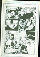 Marvel team Up #4 Josh Hood Original Comic Art Page #9 Spider-Man Man Thing