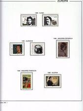 EUROPA CEPT 1996 - AÑO COMPLETO EN HOJAS FILABO - VER 16 IMAGENES COMPLETE YEAR