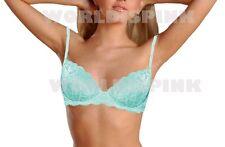 Victoria's Secret Date Racerback Brown Unlined Green Aqua Demi Bra 36 B NWT