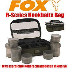 Fox R-Series Hookbaits Bag inkl. 8 Dosen - Hakenköder Dipdosen Soak Tasche Carp