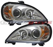 96-01 Freightliner Columbia Projector Head Lights Chrome 97 98 99 00 PAIR NEW!!