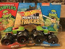 Teenage Mutant Ninja Turtles Monster Trucks Hot Wheels. 1/64Diecast)