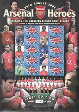 Bc-041 Gb 2004 Arsenal Heroes - Smiler sheet Unmounted Mint