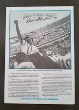 COACH DON SHULA Miami Dolphins Autographed Signed Signature All Star Cafe Menu