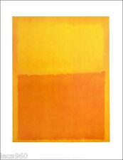 Mark ROTHKO Orange and Yellow Abstract Poster 14 x 11