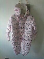 Next baby girl Unicorn snowsuit 12-18 months excellent condition