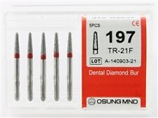 Dental Diamond Burs, Fine Grit Multi-Use, 5 Pcs/Pk [197TR-21F]