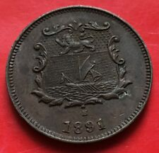 British North Borneo  1/2 half Cent 1891H (b)