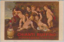 53219  -  ITALY Italia - VINTAGE ADVERTISING POSTCARD: WINE Chianti Rufino 1924