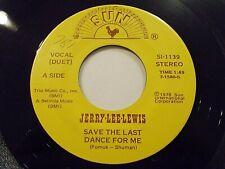 Jerry Lee Lewis Save The Last Dance For Me 45 1978 Sun Elvis Duet Vinyl Record