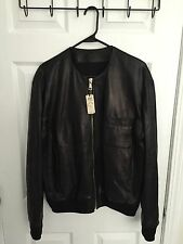 100% Authentic Givenchy Collarless Buttersoft Lambskin Bomber Jacket