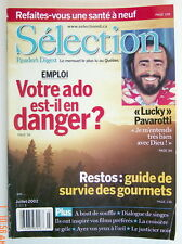 SÉLECTION DU READER'S DIGEST DE JUILLET 2002, EN COUVERTURE LUCKY PAVAROTTI