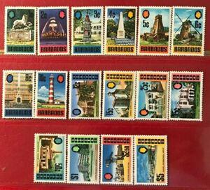 BARBADOS 328-343 1970 British Commonwealth Mint V V LH mark OGVF Compl.set 18155