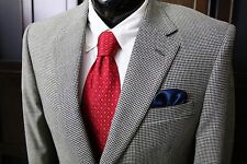 JOS A BANK (41R 42R Mens Black White Houndstooth Windowpane Silk Wool Sport Coat