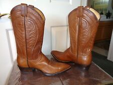 CEBU NEOLITE HONEY BROWN WESTERN COWBOY BOOTS SZ 8.5 NEAR MINT!!