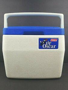 Coleman Lil Oscar 5272 Vintage Blue Lid Personal Mini Cooler 6 Pack Lunch Box