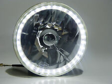 7 Inch Halo LED SMD Headlights Reflector Non-Sealed H4 Type (Pack of 2)