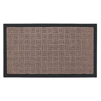 JVL Firth Woven Carpet Rubber Backed Entrance Door Mat, 40 x 70 cm