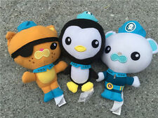 "Fisher Price Octonauts 7"" Barnacles Kwazii Peso 3pcs Plush Dolls New"