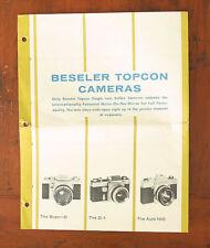 TOPCON BESELER SALES BROCHURE/69000