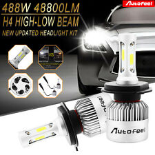 COB H4 HB2 9003 488W 48800LM Car LED Headlight Kit Hi/Lo Beam Power Bulbs 6000K