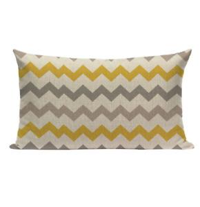 Yellow Pattern YGS1 Cushion Pillow Cover Europe Design Stylish Modern Geometric