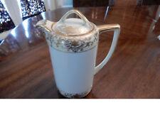 Noritake Christmas Ball #175 Chocolate Pot / Coffee Pot with Lid- Blue Backstamp