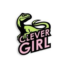 CLEVER GIRL SOFT ENAMEL BLACK METAL PLATED LAPEL PIN YESTERDAYS CO