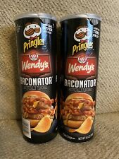 PRINGLES & WENDY'S BACONATOR LIMITED EDITION 5.5 OZ, 2 CANS