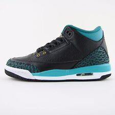 Nueva camiseta para mujer Nike Air Jordan 3 III Retro Negro Zapatillas Sneakers UK 4.5 441140 018