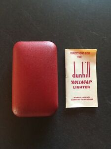 dunhill rollagas Etui rot mit Handbuch